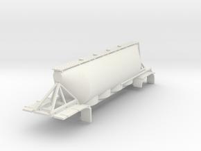 000553 Silo 40 Dry Bulk Trailer in White Natural Versatile Plastic: 1:87 - HO