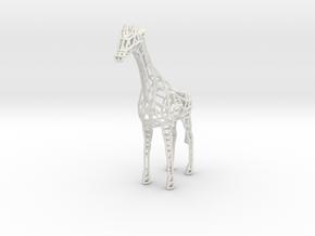 Wire Giraffe in White Natural Versatile Plastic