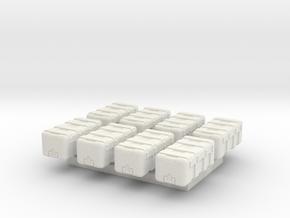 1/87 Scale Equipment Cases x8 in White Natural Versatile Plastic