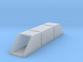 N Single Track Box Culvert Set 2x2m in Smooth Fine Detail Plastic