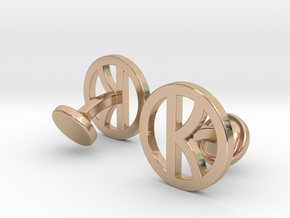 Kingsman Cufflinks in 14k Rose Gold Plated Brass