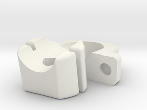 D.T.P. Brace two piece set for Garrett AT Max, AT  in White Natural Versatile Plastic