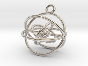 Oxygen atom (large) in Rhodium Plated Brass