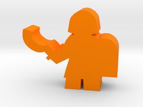 Game Piece, Egyptian Soldier in Orange Processed Versatile Plastic