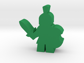 Game Piece, Trojan Soldier in Green Processed Versatile Plastic