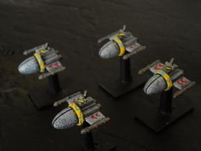 SSA102A Chariot Frigate (x4) in White Strong & Flexible