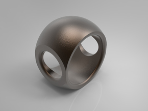 RING SPHERE 1 SIZE 9 in Polished Bronze Steel