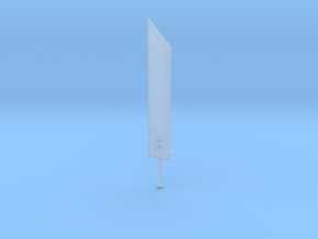Miniature Buster Sword - Final fantasy 7 in Smooth Fine Detail Plastic: 1:12