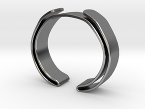 Double Fold Cuff in Polished Silver