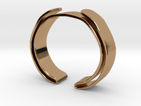 Double Fold Cuff in Polished Brass