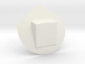 12th scale dome-E-1 in White Natural Versatile Plastic