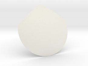 12th scale dome-D-1 in White Natural Versatile Plastic