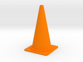 1/24 Large Traffic Cone (70 cm Type) in Orange Processed Versatile Plastic