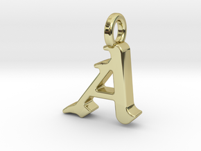 A - Pendant - 2mm thk. in 18k Gold Plated