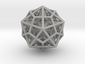 Icosa/Dodeca Combo w/nested Stellated Dodecahedron in Aluminum