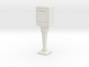 1/24 French Post Box / boîte postale n°2 in White Natural Versatile Plastic