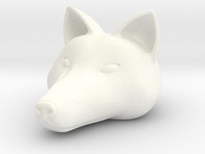 Anthro Wolf Head (Marvel Legends Version) in White Processed Versatile Plastic