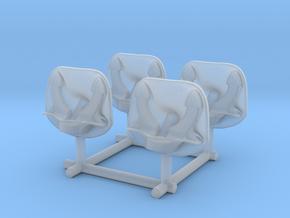 1/350 DKM Anchor Bolster Set x4 in Smoothest Fine Detail Plastic