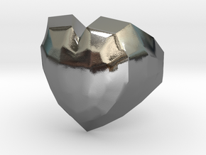 Heart ring in Polished Silver: 5.5 / 50.25