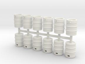 Beer Barrel 01. 1:43 Scale  in White Natural Versatile Plastic