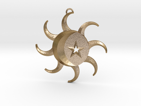 Celestial Pendant in Polished Gold Steel
