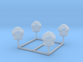 Crown Gas Globe HO Scale (Set of 4) in Smooth Fine Detail Plastic