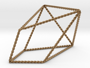 Twisted Chestahedron in Natural Brass