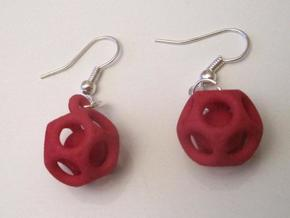 Dod Earrings w/ Spheres in Red Processed Versatile Plastic