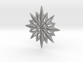 Snowflake Necklace  in Aluminum