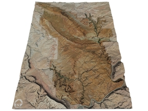 """Arches National Park Map: 8.5""""x11"""" in Full Color Sandstone"""