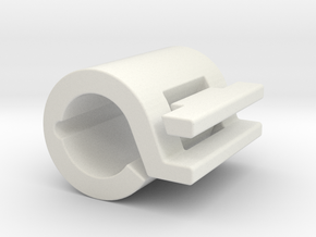 "1.25"" ID Spring Clamp in White Natural Versatile Plastic"