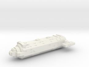 Omni Scale General Small Auxiliary Cruiser SRZ in White Natural Versatile Plastic