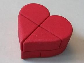 Heart 2x2x2 Puzzle in Red Processed Versatile Plastic