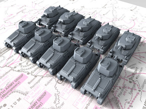 1/700 French SARL 42 Medium Tank x10 in Frosted Extreme Detail