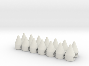 Brim Spike 14-Pack in White Strong & Flexible