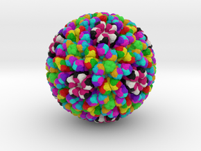 Rotavirus in Full Color Sandstone