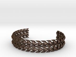 Bones Bracelet in Polished Bronze Steel