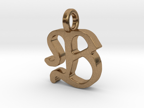 B - Pendant - 2mm thk. in Natural Brass