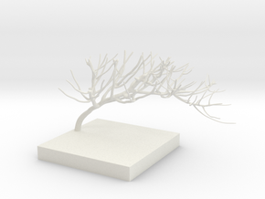 Sculpted Branch in White Natural Versatile Plastic