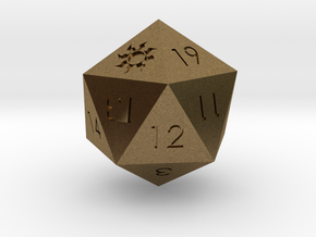 D20 White Mana Symbol (MTG)  in Natural Bronze: Extra Small