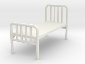 1:72 Hospital Bed in White Natural Versatile Plastic