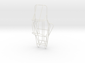 1/8th Scale Dune Buggy Frame in White Natural Versatile Plastic