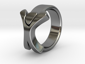 Merged_Ring_18.94mm_x_2mm_x_7mm in Premium Silver