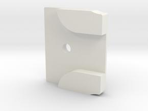 Styrstopp RG BK1R Mode 1: 10 grader in White Natural Versatile Plastic