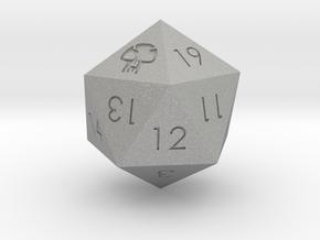 D20 Black Mana Symbol (MTG) in Aluminum: Extra Small