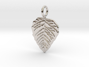 Metal Leaf in Rhodium Plated Brass