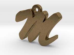 M - Pendant - 2mm thk. in Natural Bronze