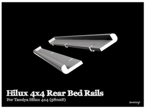 Simensays Hilux 4x4 Rear Bed Rails in White Strong & Flexible Polished