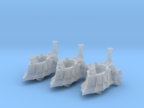 10mm Imperial Mortar Tanks (3pcs) in Frosted Ultra Detail