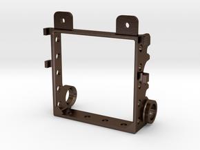 Sidewinder Gear Plate in Polished Bronze Steel